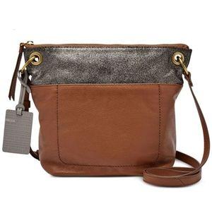 Fossil keely multi-brown crossbody shoulder purse